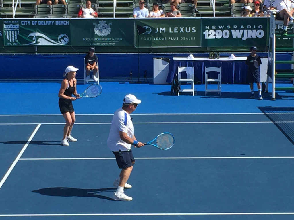 Chris Evert and John Lovitz